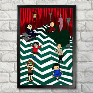 Twin Peaks - Charlie Brown characters Poster Print A3+ 13x19 in - 33x48 cm