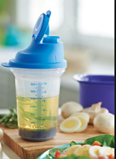 TWO New Tupperware Measure Measuring Mix Shakers Formula Marinade Dressing + New