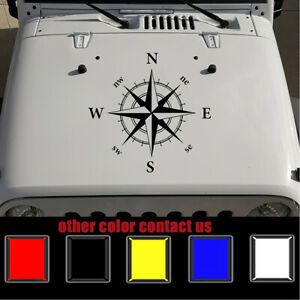 """For Jeep Decals Jeep Wrangler Compass Vinyl Hood Decal 20"""" x 20"""" black 1pc"""