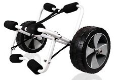 Deluxe Boat Kayak Canoe Carrier Dolly Trailer Tote Trolley Transport Cart Wheels