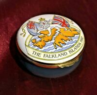 "Crummles  Enamels ""Falklands War Victory"" Commemorative Pill Box"