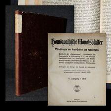 1916 Homöopathie Wolf Reichert Homöopathische Monatsblätter
