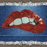 Lippen Mund Patches Applique Nähen Pailletten Patch für Stickmuster eNwrg #cov
