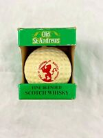 Vintage - 1982 - GOLF BALL - Scotch Whisky Bottle - Old St. Andrews - Miniature