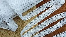 3m Vintage Cotton crochet lace edge trim white Ribbon Sewing Crafts scallop new