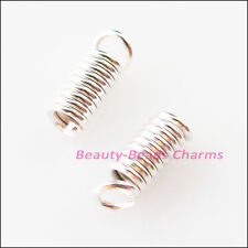 150Pc Coil End Crimp Necklace Fastener Connector 3x6mm Gold Silver Bronze Plated