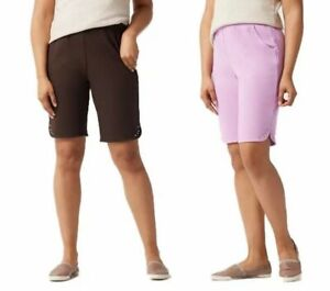 QUACKER FACTORY NEW $54 Set of Two Sparkle and Shine Knit Shorts 1X