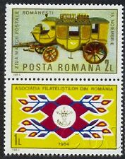 1984 Post coach,Mail,Horse-drawn carriage,Postwagen,Stamp Day,Romania,4102,MNH
