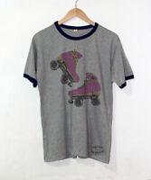 6bd1e648e9 Pink Roller Skate T-Shirt Skating Shirts Ringer Blade Retro Unisex Gift Tees