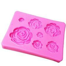 Flower Rose Chocolate Cup Cake Mini Silicone Mold Pastry Baking Tray Mould FA
