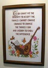 THE SERENITY PRAYER - Quality Framed - Needlepoint Artwork with a message