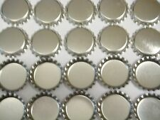 100 1 inch linerless Silver Chrome Bottle Caps for Craft, Necklaces