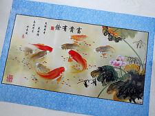 """CINESE 2 37"""" x 25"""" Koi Carp Pennello Pittura Murale Muro Poster Foto giapponese"""