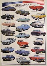 Jigsaw puzzle Car 1950's American Cars 1000 piece NEW made in the USA