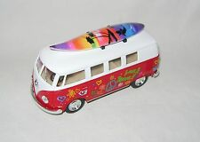 NEW VW VOLKSWAGEN 1962 CAMPERVAN CAMPER VAN BUS 1:32 SCALE RED