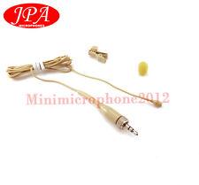 Beige JPA Omni-directional Lavalier Lapel Mic For Nady(3.5mm plug) Wireless Mic