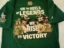 Notre Dame Football 2013 mens graphic t shirt Medium green shows no wear