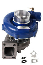 Hybrid T3/T4 T3T4 T04E .57 A/R Turbine 5 Bolt Flange Turbocharger blue housing