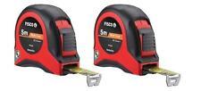 2x Fisco Hultafors 5m Metre 16ft Matt Coat Tape Measure Measuring Tool PR5ME