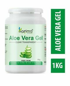 KAZIMA Aloe Vera Gel-100% Raw Pure Natural Gel-1 Kg Jumbo Pack