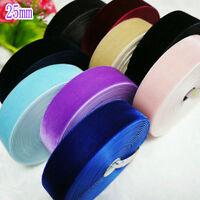 32 Colors Velvet Ribbon 10 Widths, U Pick Soild Colours Polyester For DIY Cloth