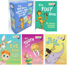 Big Box of Bright and Early Board Books About Me Foot,Eye,Tooth,Nose Dr Seuss