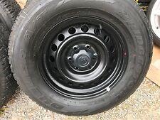 "4X GENUINE TOYOTA HILUX SR  Series 17"" BLACK STEEL Wheels & AT Tyres 4X4 PRADO"