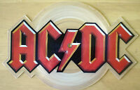 EX/EX! AC/DC GUNS FOR HIRE LOGO SHAPED VINYL PICTURE PIC DISC