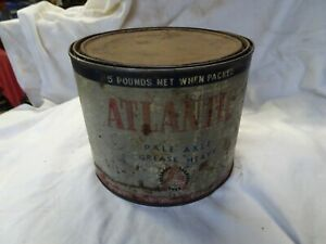VINTAGE ATLANTIC 5LB GREASE TIN