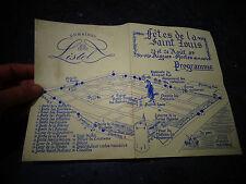 Ancien Programme de la Fètes de la Saint Louis Plan d'Aigues Morte 1997 Listel