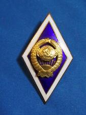 soviet russian badge Graduation State University USSR rhombus Academy hot enamel