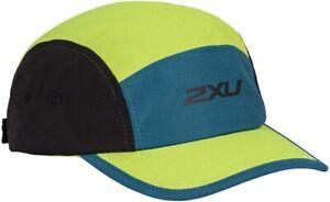 2XU Run Ripstop Camper Running Cap Green Adjustable Durable Quick Drying Unisex