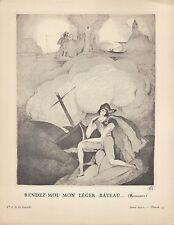 Gazette du Bon Genre. Pochoir Print. 1921. Charles Martin Monochrome.