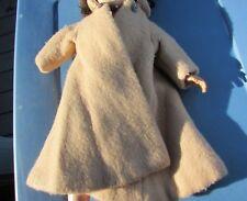 "Revlon Doll Woolen Flare Coat Tan Gorgeous Studded Button 20"" Doll Ideal 1957"