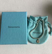Tiffany & Co 'Return to Tiffany Tag Sterling Silver Bead Bracelet NEW
