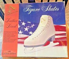 American Figure Skates, Ladies White Size 4