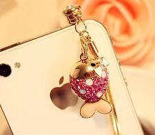 Anti Dust Plug For iPhone 6SPlus 6S 6plus 6 5C 5S 5 4S 4 3GS Pink Fish Tassel