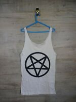 pentagram Music graphic Band Punk Indie tank top T shirt refA11 small