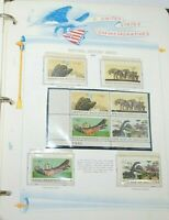 U.S.A. COMMEMORATIVE STAMP ALBUM---1966-1972---209 ALL MINT STAMPS---31 PAGES