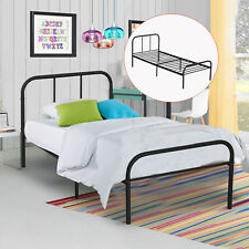Metal Bed Frame with Black Steel Headboard Bedroom Mattress Foundation Twin Size