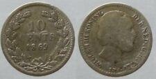 Niederlande 10 Cents 1869 Silber Willem III