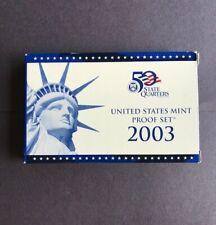 2003-S U. S. Mint Proof Set 10 coin set in Original Box w/ COA Free Shipping