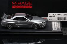 Nissan Skyline R34 GT-R V-SPEC **SONIC SILVER** -- HPI #8370 Resin 1/43