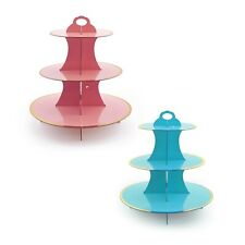 2 pc Pink and Blue Cupcake Stands Gender Reveal Baby Shower Dessert Tower BULK
