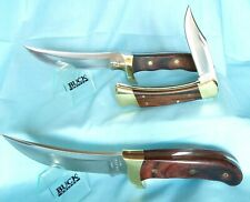 3 VINTAGE BUCK KNIVES / 1995 BUCK KALINGA SURVIVAL KNIFE / 1993 AKONUA/  110