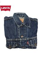 GIUBBOTTO GIACCA CAMICIA JEANS LEVIS STRAUSS DONNA TG. S BLU VINTAGE A+