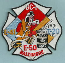 BALTIMORE CITY FIRE DEPARTMENT ENGINE 41 ENGINE 50 TRUCK 20 PATCH