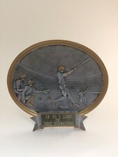 Male Oval Baseball Plate Resin Trophy! Free Engraving! Ships In 1 Business Day!