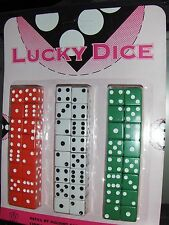 Lucky Dice 48 Dice Carded - White, Green, Red Board game Cup Aggravation 5/8