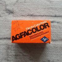 Expired 1975 Agfa AgfaColor CNS Rapid 135-12 ASA-80 Camera Film Vintage